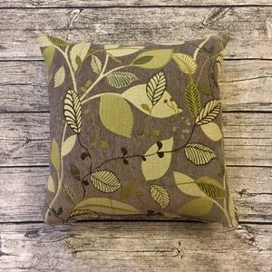 Taupe/Green Throw Pillow
